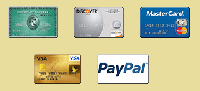 We Accept All Major Credit Cards & PayPal