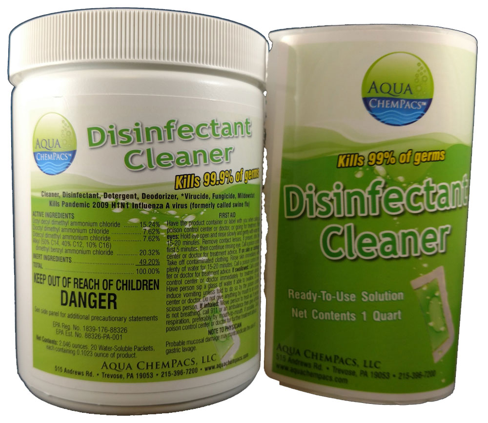 Disinfectant Cleaner 20 pack Jar - Aqua Chempacs