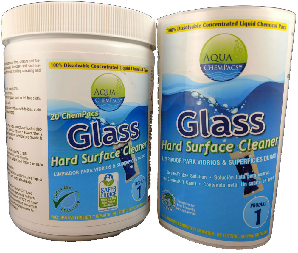 Glass and Hard Surface Concentrate 20 pack Jar - Aqua Chempacs