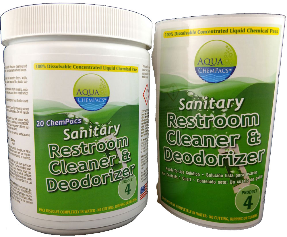 Sanitary Restroom Cleaner Concentrate 20 pack Jar - Aqua Chempacs