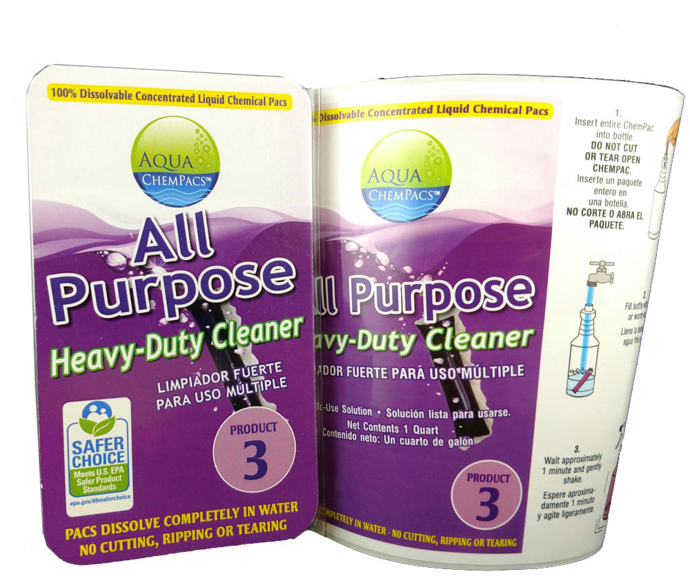 All Purpose Heavy Duty Cleaner 6 pack Clamshell - Aqua Chempacs
