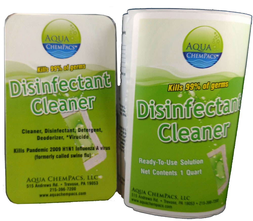 Disinfectant Cleaner 6 pack Clamshell - Aqua Chempacs