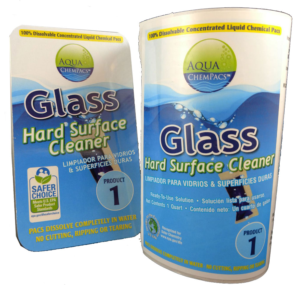 Glass and Hard Surface Concentrate 6 pack Clamshell - Aqua Chempacs
