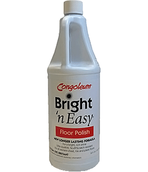 Congoleum Bright-N-Easy Vinyl Floor Polish 32oz