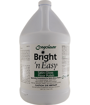 Congoleum Bright-N-Easy Vinyl Satin Polish Gallon